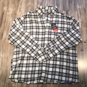 NWT Chaps Performance Flannel Button Down